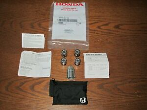 GENUINE OEM HONDA  --USED--  08W42-SCV-102 WHEEL LOCK SET--SEE VEHICLE LIST