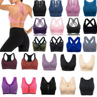 US Seamless Sports Bras Activewear Tops Vest Comfy Shapewear Sports Stretch Crop