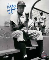 """Dick Gray Signed 8X10 Photo """"1st Dodger HR"""" Autograph LA Dodgers Auto w/COA"""
