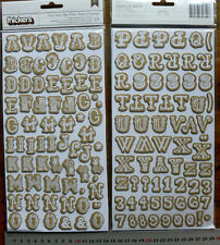 STORYTIME Cork Chipboard - 108 Alphabet & Numbers 24mmHigh & 13-28mmWide L4