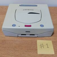 Sega Saturn Console White Saturn Power OK Not Tested For Parts DHL FedEx #1