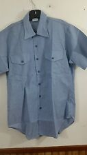 vintage dead stock chambray shirt seafarer 1970's medium