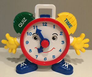 """Talking Telly Quiz Time Clock Navystar 9"""" Educational Learning Clock WORKING TOY"""