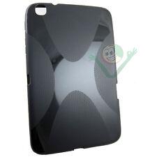 Pellicola+Custodia X Style lucida NERA per Samsung Galaxy Tab 3 8 P8200 cover
