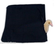 "Deluxe LARGE 14"" BLACK DOVE PRODUCTION ZIPPER BAG Magic Trick Bird Appearing PRO"