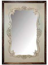 NEW Vintage French Rustic Shabby Chic Ornate Cream Chateau Wooden Frame Mirror