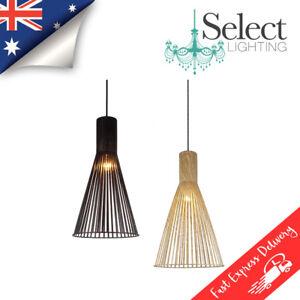 NOVO - Wood Look Pendant Ceiling Light Replica Designer Secto Octo REPLICA *NEW*