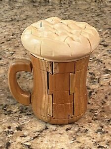 3D Puzzle Game Beer Mug Wooden Puzzle stein