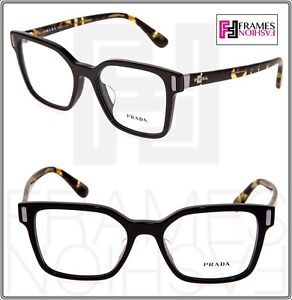 PRADA MOD PR05TFV Black Havana Eyeglasses RX Optical Frame 1AB-1O1 52 mm 05T