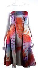GIORGIO ARMANI Fall 2012 Runway Multi-Color Print Silk Cocktail Dress 36