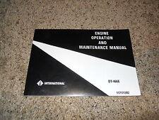 International DT-466E Diesel Engine Owner Owner's Operation & Maintenance Manual