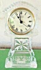 "Crystal Legends by Godinger Mini Desk Grandfather Clock 24% Lead Crystal 6 3/4"""