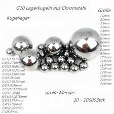 """Kugeln Stahlkugeln Wälzlagerstahl Kugellager GI0 1/16""""-1""""  1- 40mm 10 -10000Stck"""