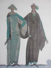 Gazette du Bon Ton Pochoir Art Deco Les Soeurs Jumelles by Benito - 1920