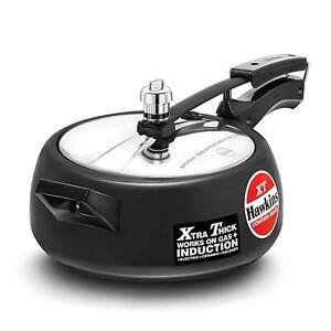 Hawkins Contura Black XT Pressure Cooker, 3.5 Liter, Induction Base