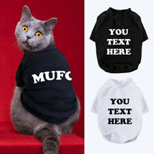 Personalized Cat T-Shirt Custom Soft Vest Clothes for Small Medium Dogs XS-XL