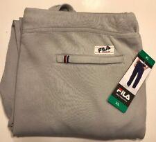 FILA Men's Vintage Fleece Lined Sweat Pants, Grey, XL