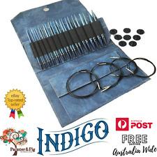 """Circular Knitting Needle Set of 12 - LYKKE Indigo 5"""" Interchangeable"""
