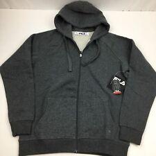 FILA Full Zip Hooded Soft Fleece Men's Sweatshirt with Media Pocket Medium Gray