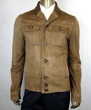 $3900 Gucci Men's Bengal Brown Suede and Knit Jacket 6 Buttons 54R 387684 2475