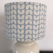 'Scandi' Design 30cm Lampshade in Blue/Grey