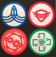 The Orville TV Series Screen Accurate Chest Insignia Logo PVC Badge Pin Set of 4