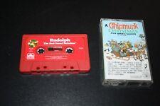 Christmas Book on Cassette Lot Chipmunk Christmas & Rudolph Teacher Classroom