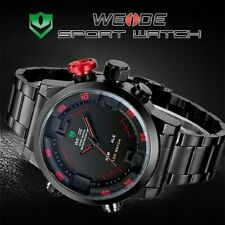 WEIDE WH-2309 Men LED Sports Watch, Stainless Steel Strap, Water resistant 30m