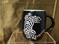 San Diego Zoo Safari Park Black Matte Tiger Etched Ceramic 14oz Coffee Mug Cup
