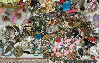 Huge Lot 8 lbs 0.4 oz Junk drawer jewelry loose beads full Priority Box X Craft