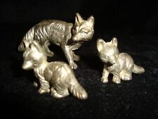 Miniature Pewter Fox & Cubs Figures