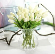 Hot Mini Tulips Centerpieces Real Touch Flowers Wedding Silk Bridal Bouquets