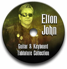 ELTON JOHN POP ROCK GUITAR & KEYBOARD TABS TABLATURE SONG BOOK SOFTWARE CD
