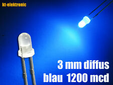 100 Stück LED 3mm blau diffus superhell