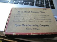Flynn Manufacturing Vintage Thread Measuring Wires No. 11