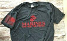 XL USMC Marine Corps The few the Proud T-Shirt Military USMCUSMC XL Charcoal