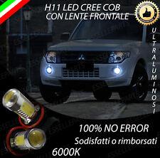 COPPIA LAMPADE FENDINEBBIA H11 LED CREE COB CANBUS MITSUBISHI PAJERO IV 6000K