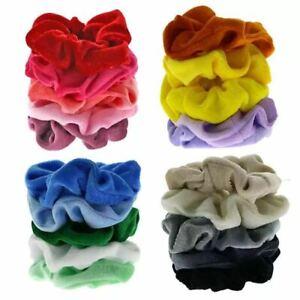 20 Pcs Hair Band Scrunchies Velvet Scrunchy Bobbles Elastic Hair Bands UK Seller