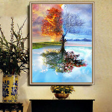 DIY 5D Diamond Mosaic Wishing Tree Painting Cross Stitch Kit Embroidery Home PL