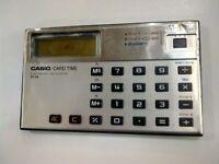 CALCOLATRICE VINTAGA CASIO CARD - TIME ECTRONIC CALCULATOR ST - 24