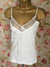 Joe Browns White Camisole Top Size 10 New With Tags
