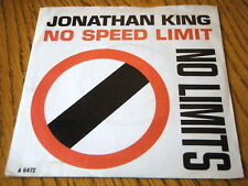 "JONATHAN KING - NO SPEED LIMIT  7"" VINYL PS"