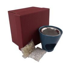 Geschenkset Räucherstövchen blau mit Weihrauch - Räucherwerk