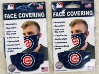 Chicago Cubs Face Covering Bundle 2 Individual Masks NWT MLB Licensed Wincraft