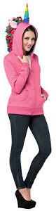 Hoodie Unicorn Pink Teen Adult Costume Halloween Fancy Dress Rasta Imposta