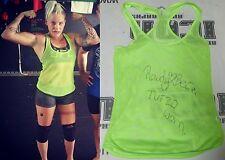 Rowdy Bec Rawlings Signed Personally Worn Used TUF 20 UFC Fight Shirt BAS COA 3