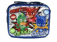 PJ Masks~Team PJ Masks Blue Boys Top Handle Shoulder Strap School Lunch Bag~New