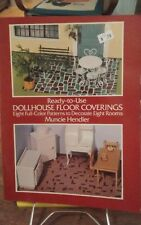 Ready to Use Dollhouse Floor Coverings 8 patterns Muncie Hendler