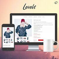 LEVELS RED | Template 2020 RESPONSIVE Auktionsvorlage Ebayvorlage Vorlage Design