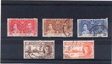 Antigua GV1 1937&46 Coronation & Victory Used